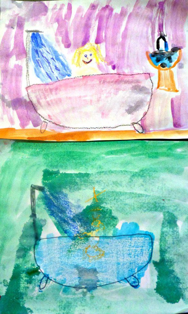 bathtub paintings