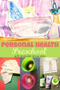 personal health preschool theme week
